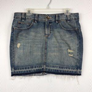 Dkny Skirts - DKNY Distressed Jean Skirt